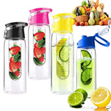 800ml Cycling Sport Fruit Infusing Infuser Water Bottle