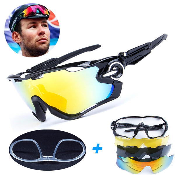 4 Lens Brand New Jaw Outdoor Sports Cycling Sunglasses / Goggles