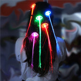 12 PCS  LED Fiber Optic Glowing  Hair