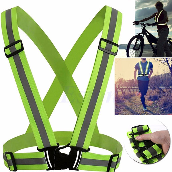 Safety Vest  Ribbon  Light Reflecting Elastic Harness