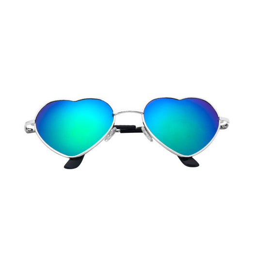 Women Cupid Heart shape Sunglasses - Green