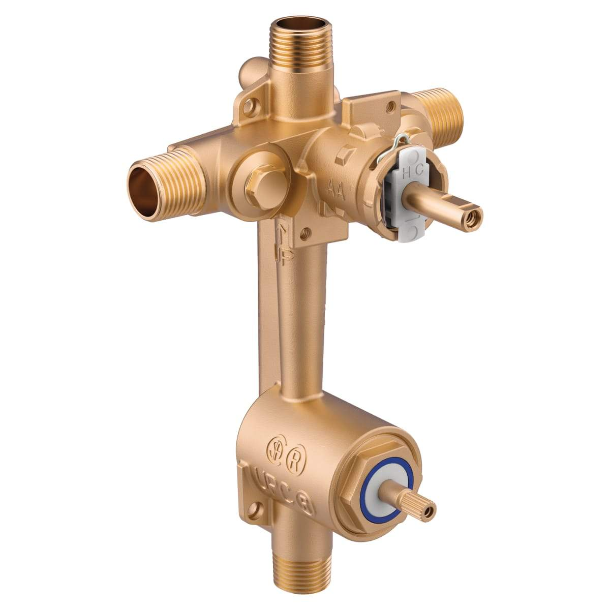 1/2 Inch IPS Pressure Balance Rough-In Valve with Diverter