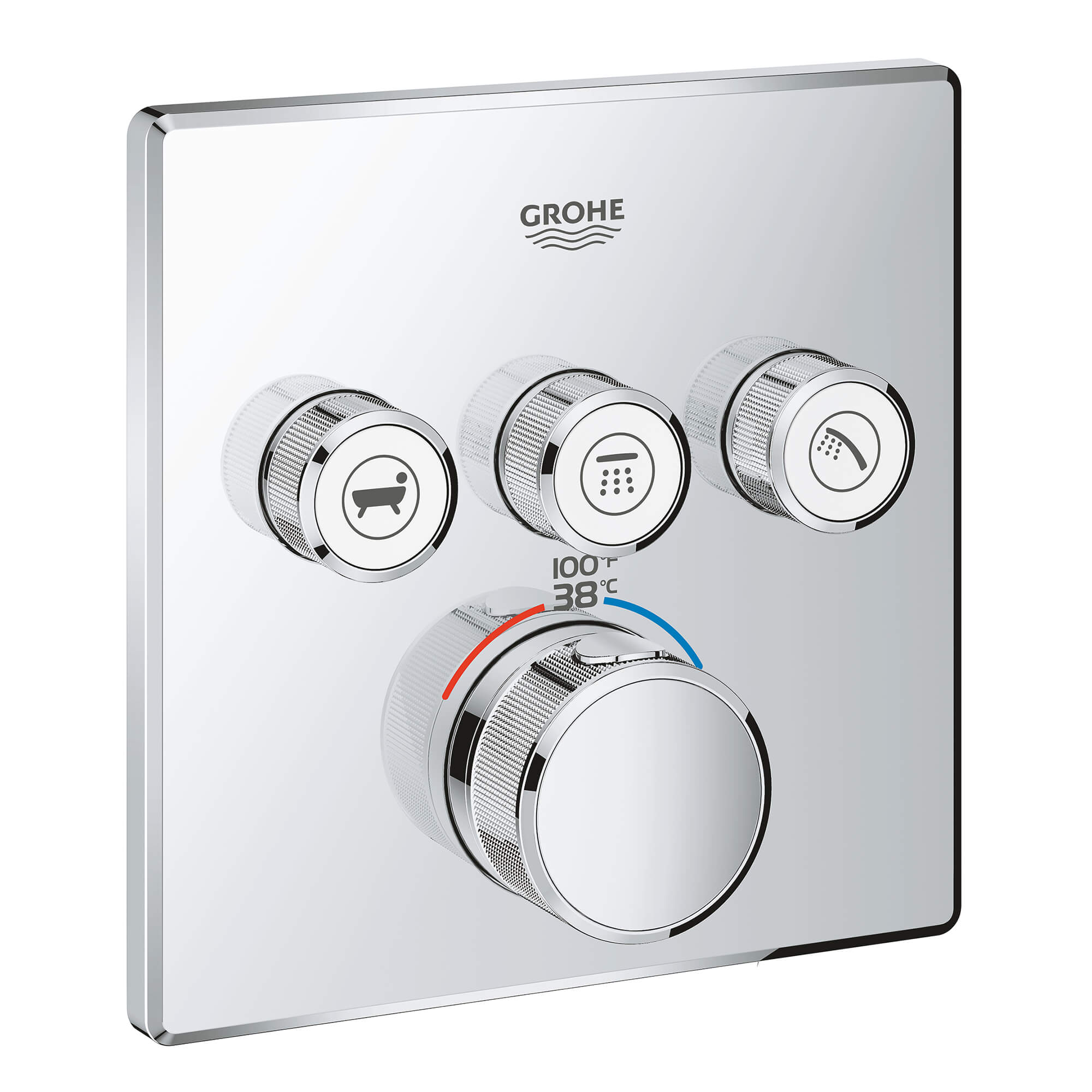 Grohtherm Smart Thermostatic Trim With Control Module