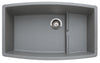 "Performa Cascade 32"" Super Single Bowl Granite Composite Sink in Silgranit"