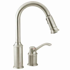 Aberdeen One-Handle High Arc Pulldown Kitchen Faucet