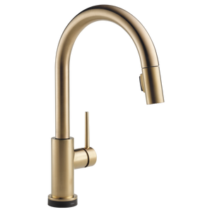 Single Handle Kitchen Faucet with Touch Pull-Down
