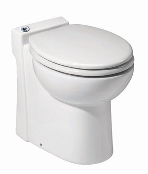 Sanicompact Self-Contained Macerating Toilet with Dual-Flush For Half Bath Applications