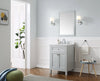 "Juniper 24"" x 21"" Vanity in Dove Gray with Cultured Marble Top & Ceramic Basin"