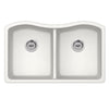 "Undermount 32-1/2"" x 20"" 50/50 Bowl Quartz Kitchen Sink"