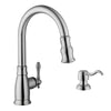 "35-7/8"" 60/40 Apron Front Stainless Steel Kitchen Sink & Traditional Faucet"