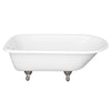 White with Tub with Satin Nickel Feet