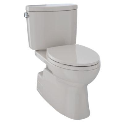 Vespin II Two-Piece High-Efficiency Toilet, with SanaGloss, 1.28-GPF