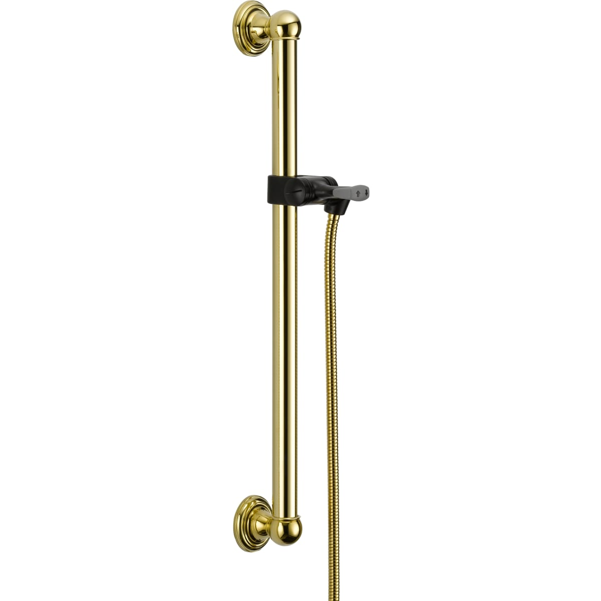 "24"" Adjustable ADA Grab Bar - Includes Hand Shower Hose and Holder"