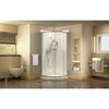 Prime 38 in. x 38 in. x 76 3/4 in. H Sliding Shower Enclosure, Shower Base and QWALL-4 Acrylic Backwall Kit