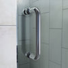Flex 36 in. D x 60 in. W x 74 3/4 in. H Semi-Frameless Pivot Shower Enclosure and SlimLine Shower Base Kit with Left Drain