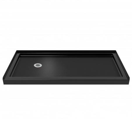 SlimLine 36 in. D x 60 in. W x 2 3/4 in. H Left Drain Single Threshold Shower Base