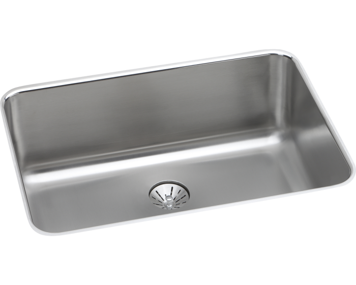 "Lustertone Classic Stainless Steel 26-1/2"" x 18-1/2"" x 10"", Single Bowl Undermount Sink with Perfect Drain"