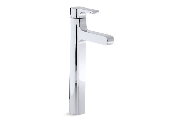 KOHLER K-10861-4-CP Singulier Single-Control Tall Lavatory Faucet, Polished Chrome