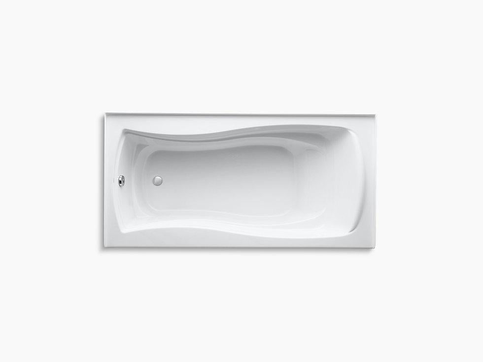 "Mariposa 72"" x 36"" 3 Wall Alcove Bath with Integral Apron and Left Hand Drain"