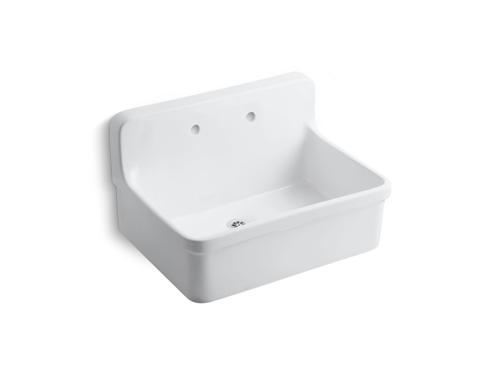 "Gilford 30"" x 22"" Bracket-Mounted Scrub-Up/Plaster Sink with 8"" Widespread Faucet Holes"