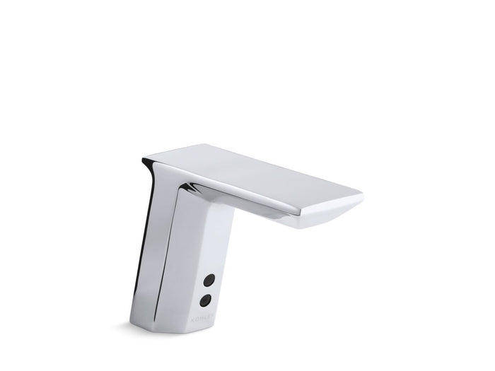 Geometric Single-Hole Touchless DC-Powered Commercial Bathroom Sink Faucet with Insight Technology