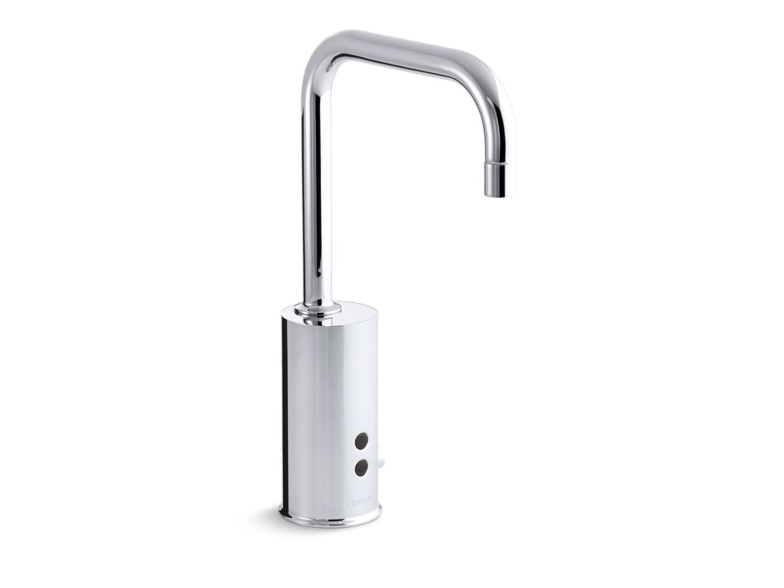 Gooseneck Single-Hole Touchless DC-Powered Commercial Faucet with Insight Technology and Temperature Mixer