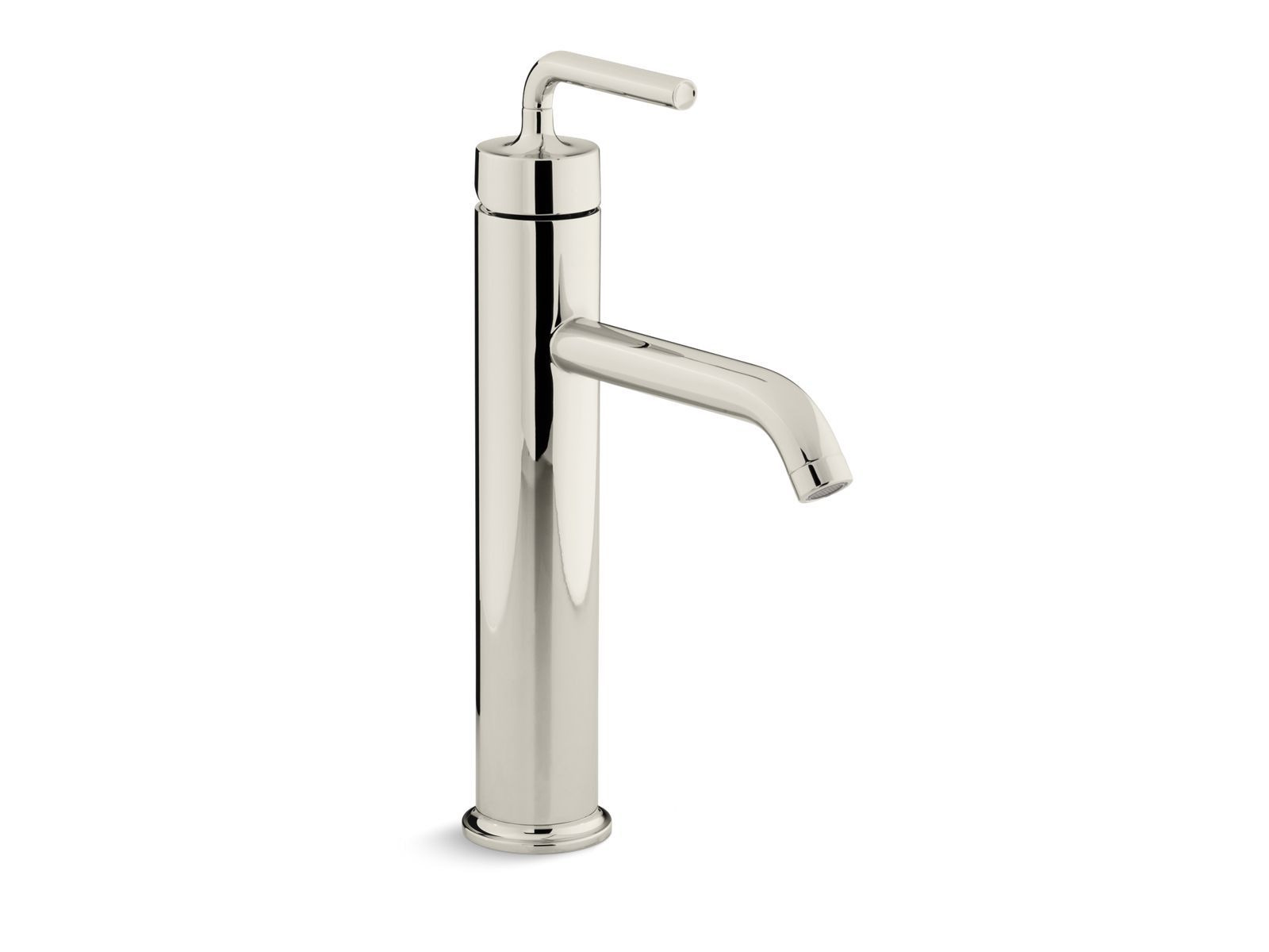 Purist Tall Single-Handle Bathroom Sink Faucet with Straight Lever Handle