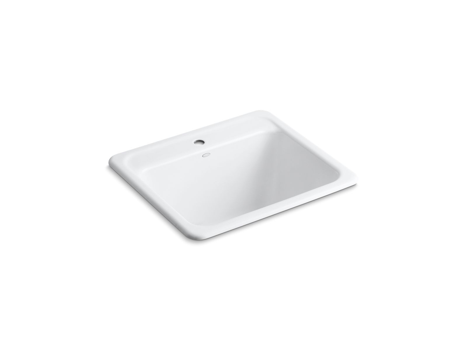 "Glen Falls 25"" x 22"" x 13-5/8"" Top-/Under-Mount Utility Sink with Single Faucet Hole"