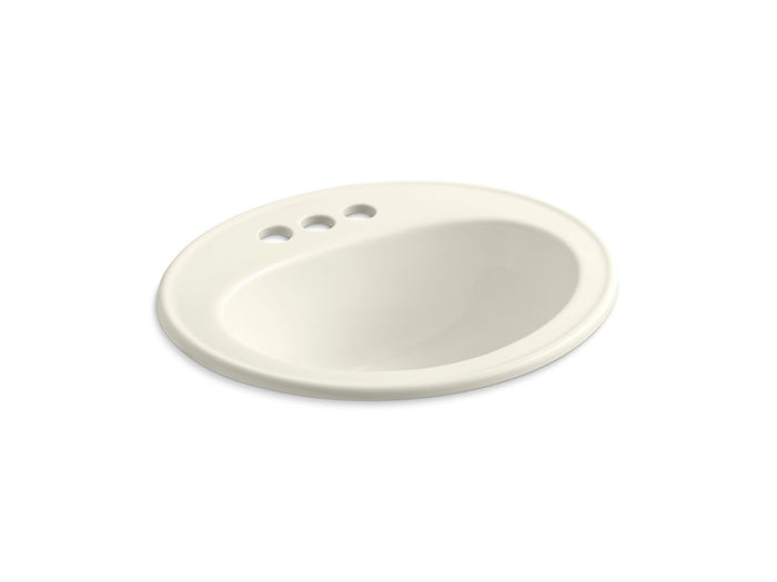 "Pennington 20 1/4"" x 17 1/2"" Bathroom Sink With Three Faucet Holes, Centerset"