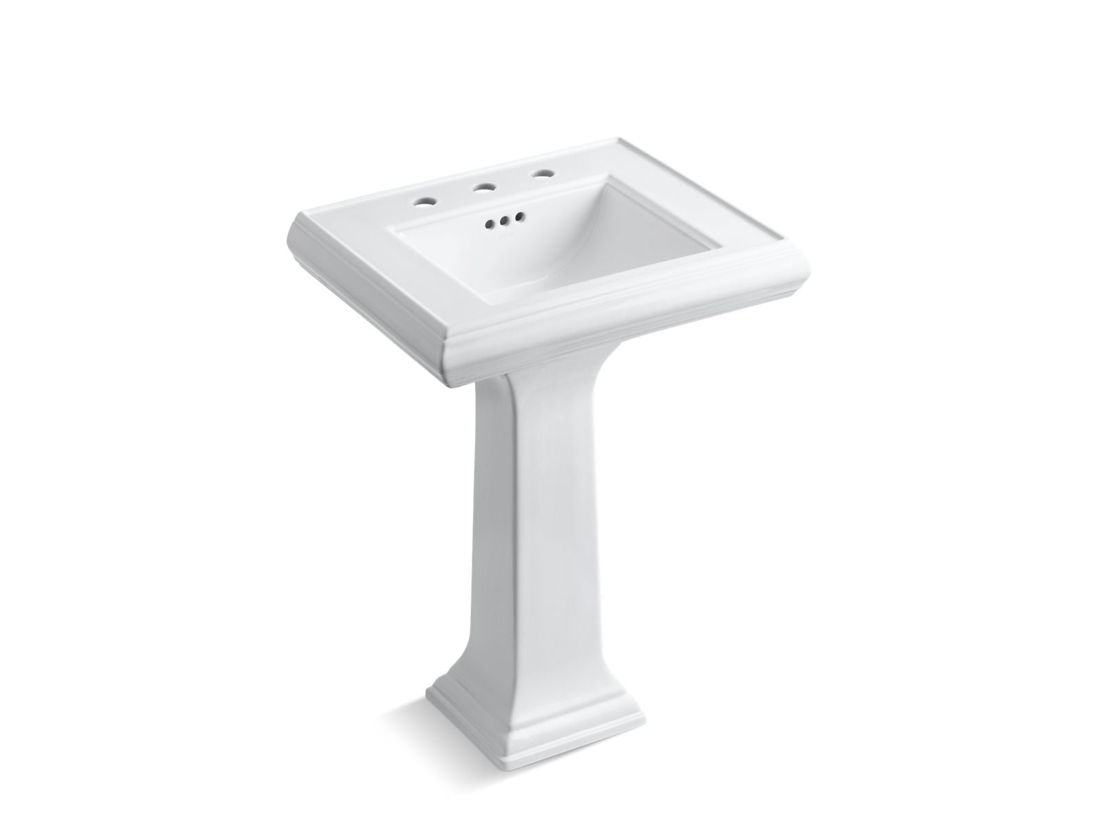 "Memoirs Classic 24"" Pedestal Bathroom Sink with 8"" Widespread Faucet Holes"