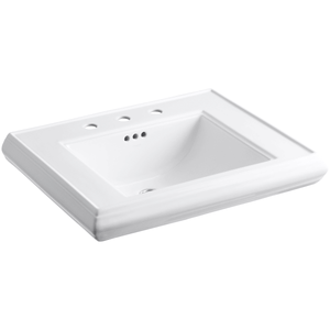 "Memoirs Classic 27"" Pedestal Bathroom Sink with 3 Holes Drilled and Overflow"