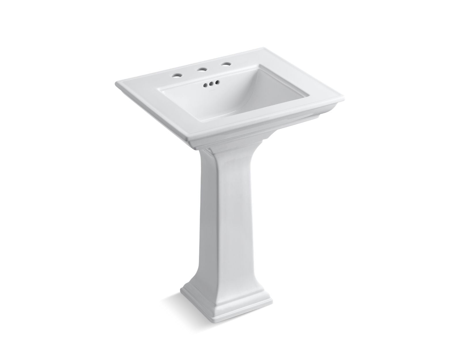 "Memoirs Stately 24"" Pedestal Bathroom Sink with 8"" Widespread Faucet Holes"
