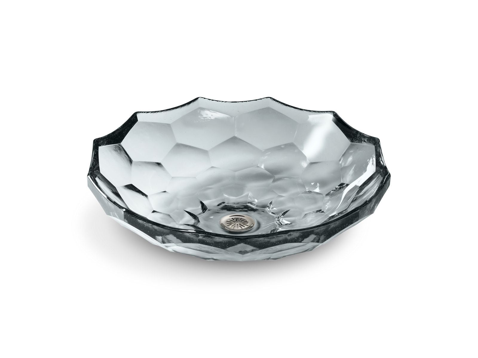 Briolette Vessel Faceted Glass Bathroom Sink