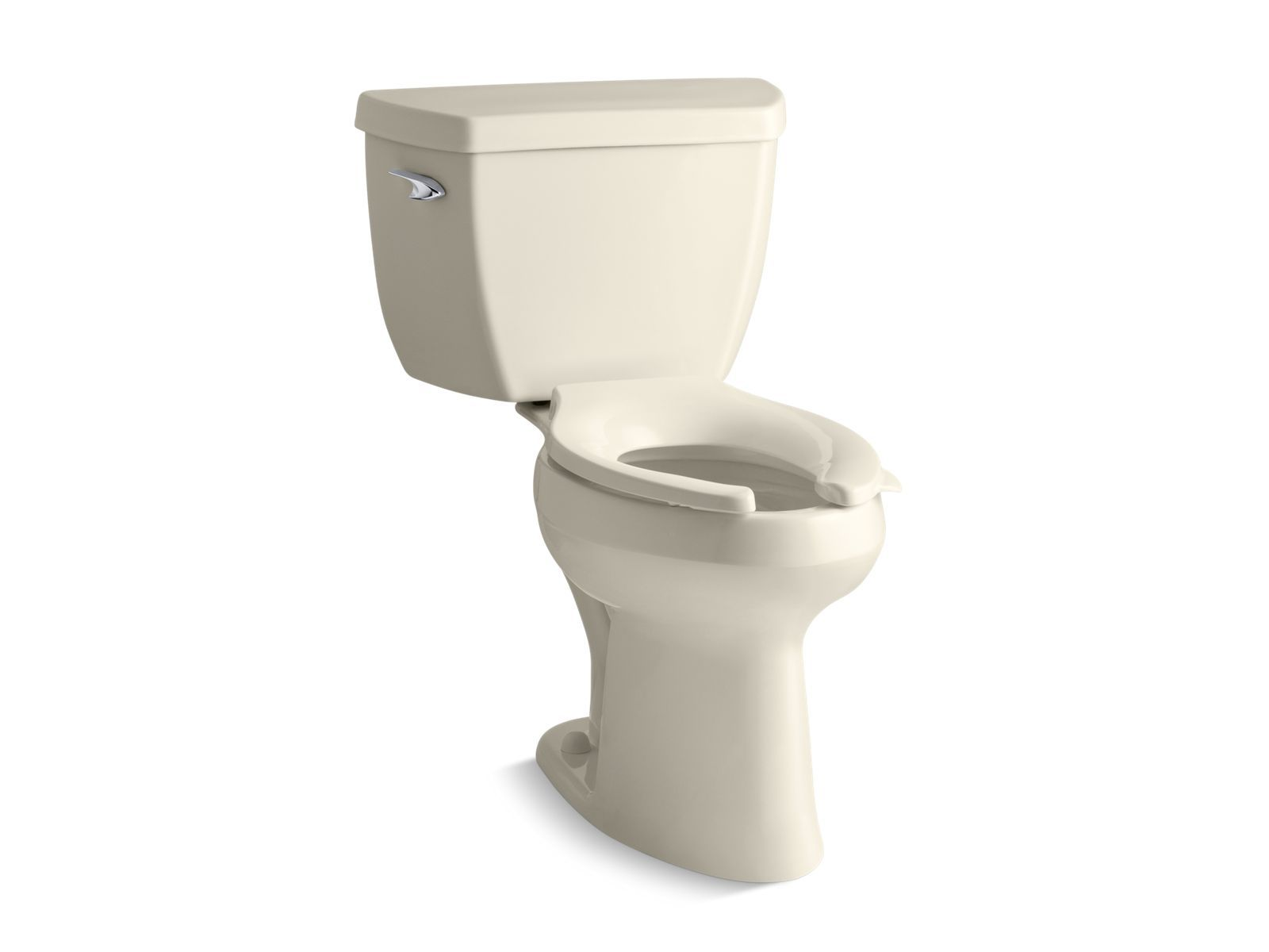 Highline Classic Comfort Height Two-Piece Elongated 1.6 GPF Toilet with Pressure Lite Flush Technology and Left-Hand Trip Lever