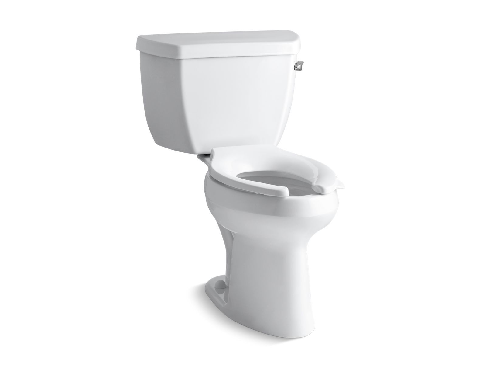 Highline Classic Comfort Height Two-Piece Elongated 1.6 GPF Toilet with Pressure Lite Flush Technology and Right-Hand Trip Lever