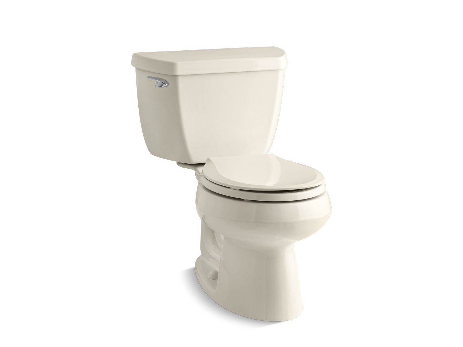 Wellworth Classic Two-Piece Round-Front 1.28 GPF Toilet with Class Five Flush Technology and Left-Hand Trip Lever