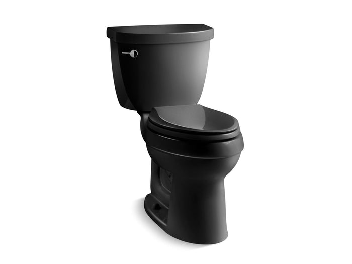Cimarron Comfort Height Two-Piece Elongated 1.6 GPF Toilet with AquaPiston Flush Technology and Left-Hand Trip Lever