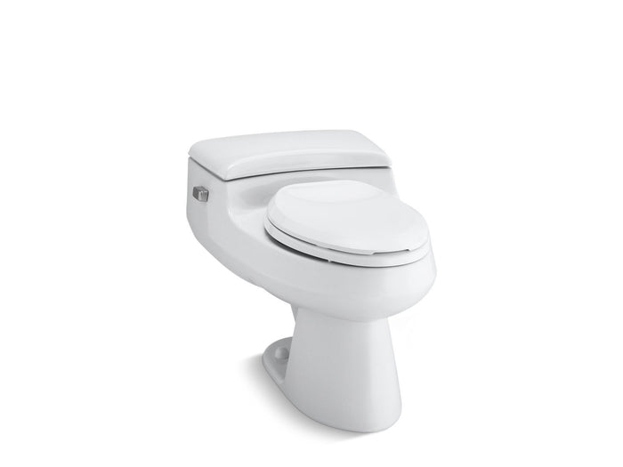 San Raphael Comfort Height One-Piece Elongated 1.0 GPF Toilet with Pressure Lite Flushing Technology and Left-Hand Trip Lever