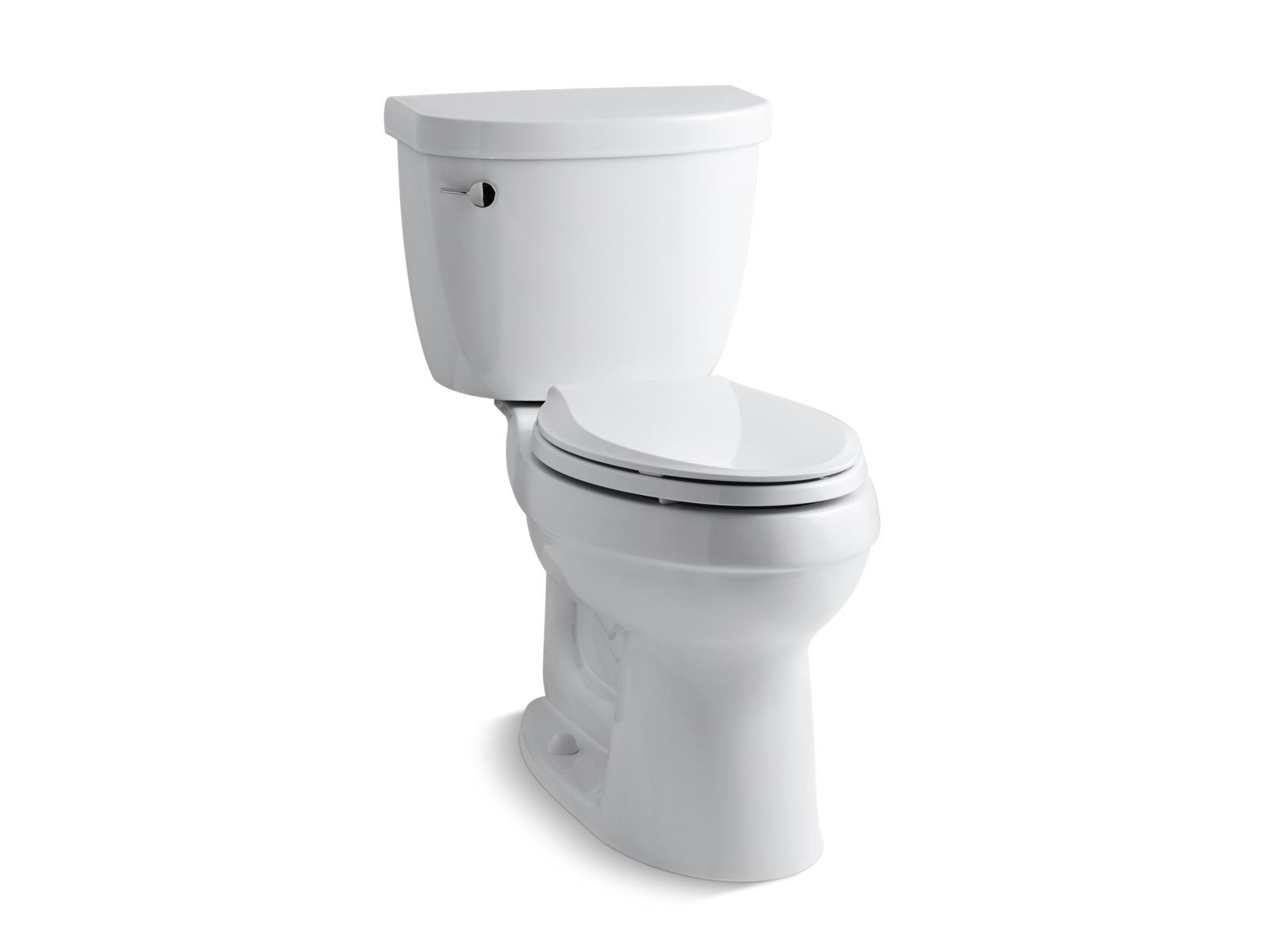 Cimarron Comfort Height Two-Piece Elongated 1.28 GPF Toilet with AquaPiston Flush Technology and Left-Hand Trip Lever
