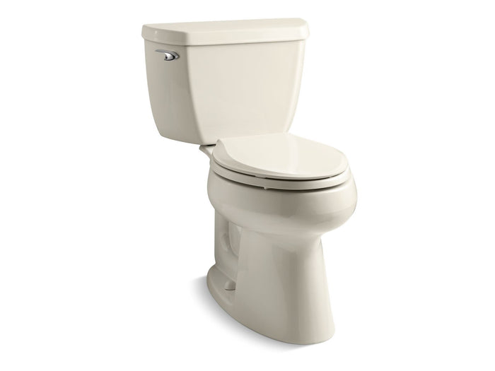 Highline® Classic Comfort Height® two-piece elongated 1.28 gpf toilet with Class Five® flush technology and left-hand trip lever, seat not included