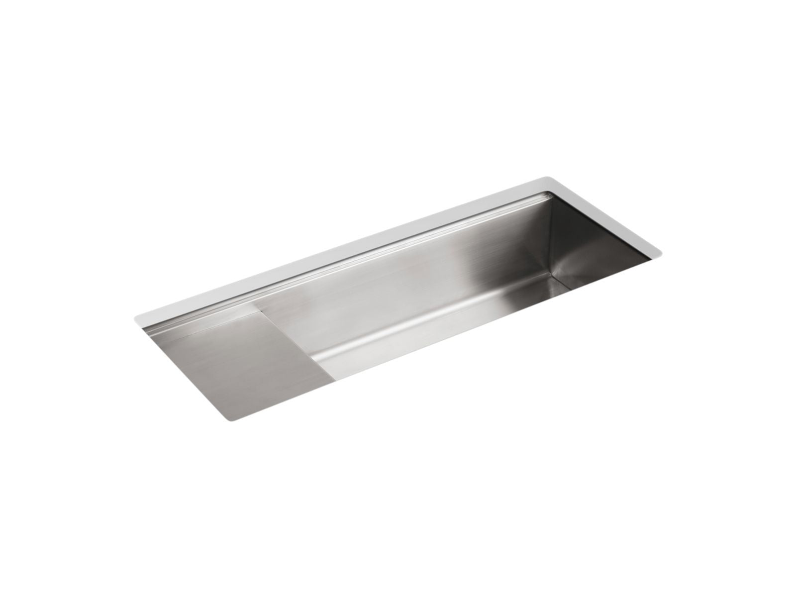 "Stages 45"" x 18-1/2"" x 9-13/16"" Under-Mount Single Bowl with Wet Surface Area Kitchen Sink"