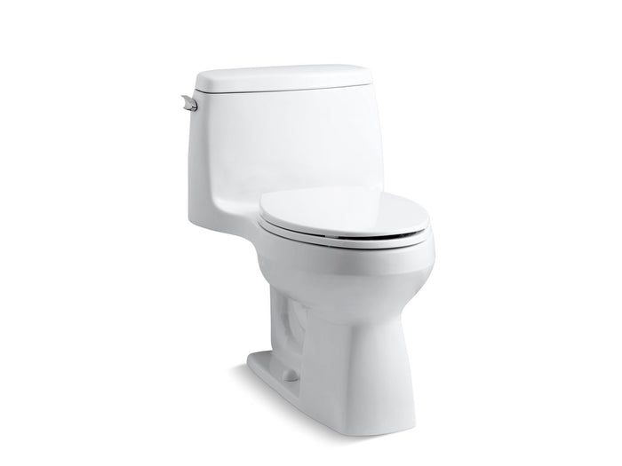 Santa Rosa Comfort Height One-Piece Compact Elongated 1.28 GPF Toilet with AquaPiston Flushing Technology and Left-Hand Trip Lever