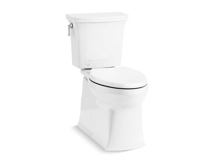 Corbelle® Comfort Height® two-piece elongated 1.28 gpf toilet with skirted trapway and Revolution 360™ swirl flushing technology and left-hand trip lever, seat not included