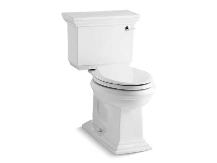 Memoirs Stately Comfort Height Two-Piece Elongated 1.28 GPF Toilet AquaPiston Flushing Technology and Right-Hand Trip Lever