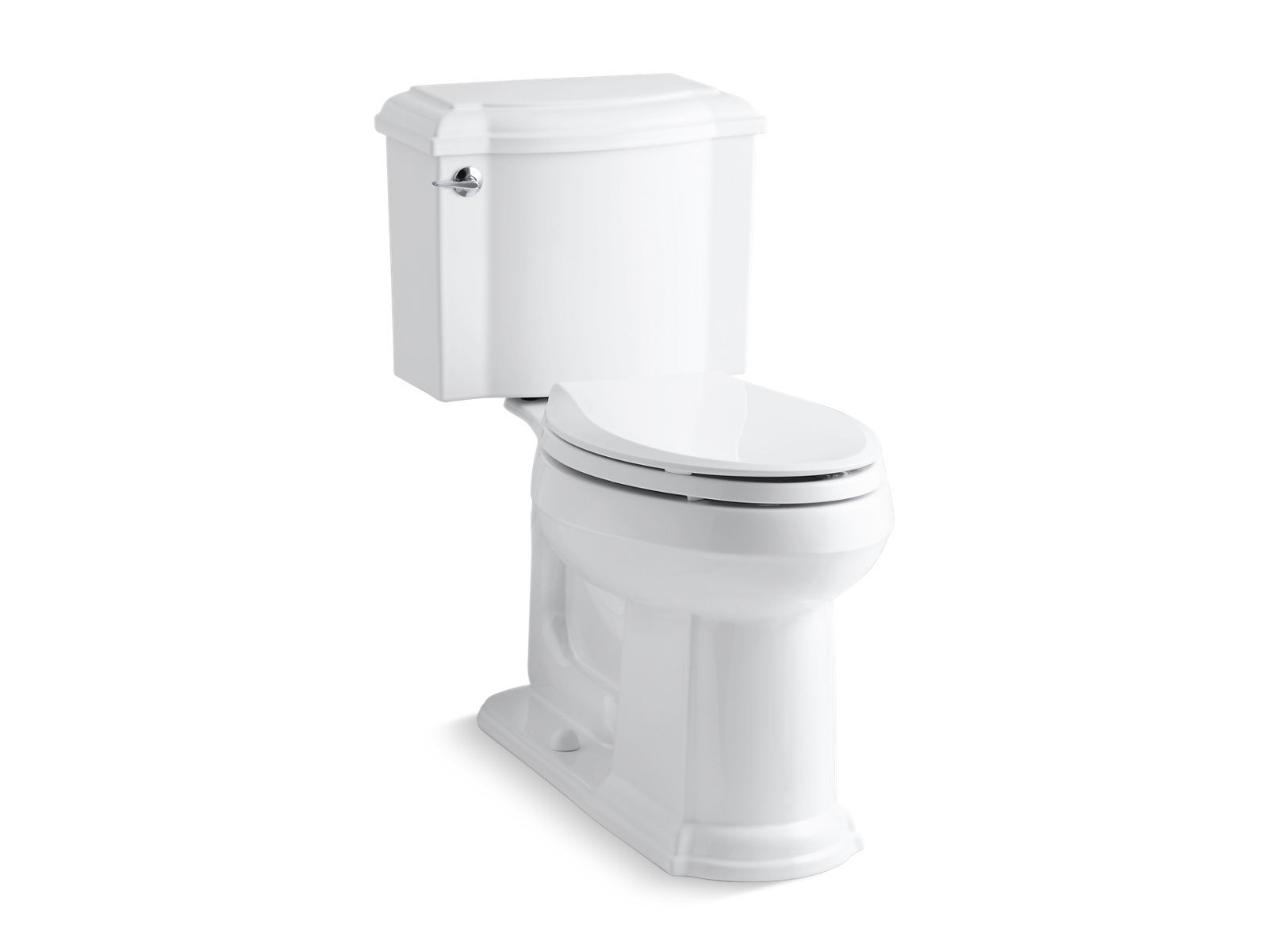 Devonshire Comfort Height Two-Piece Elongated 1.28 GPF Toilet with AquaPiston Flushing Technology and Left-Hand Trip Lever