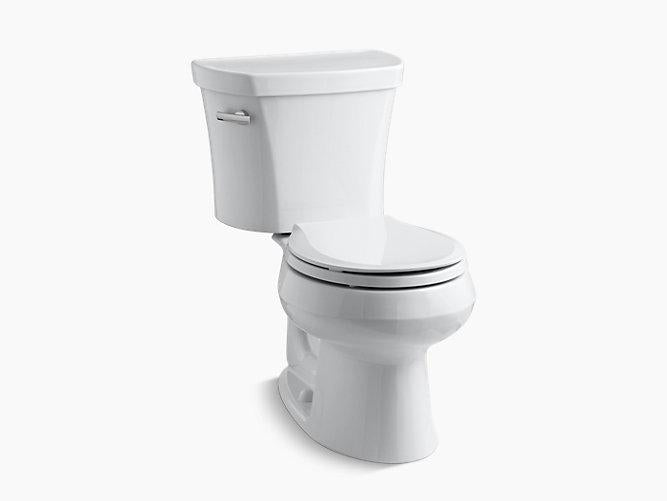 Wellworth 2-piece 1.28 GPF Round-Front Toilet with Left-Hand Trip Lever