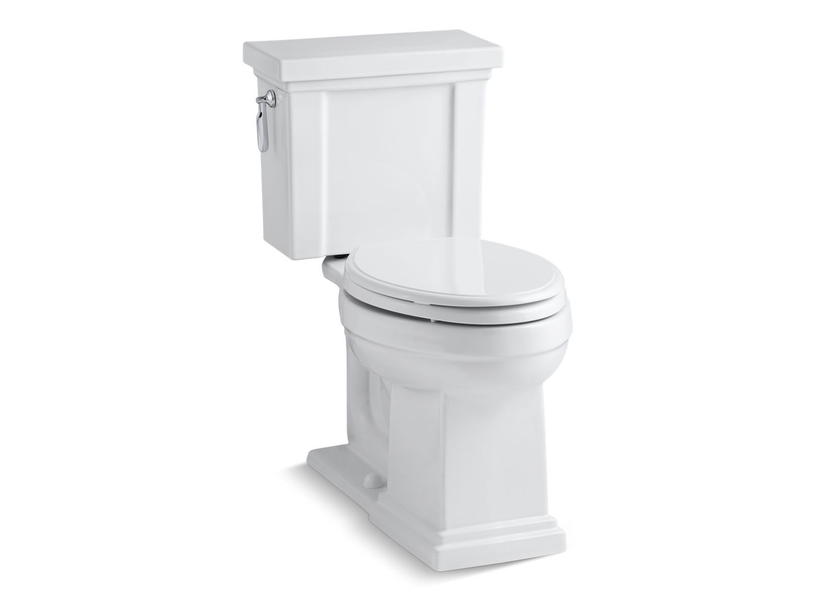 Tresham Comfort Height Two-Piece Elongated 1.28 GPF Toilet with AquaPiston Flushing Technology and Left-Hand Trip Lever