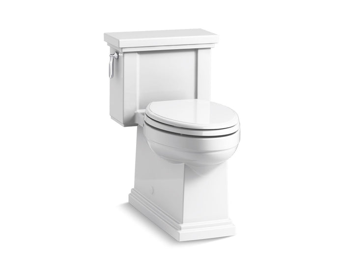 Tresham Comfort Height One-Piece Compact Elongated 1.28 GPF Toilet with AquaPiston Flush Technology