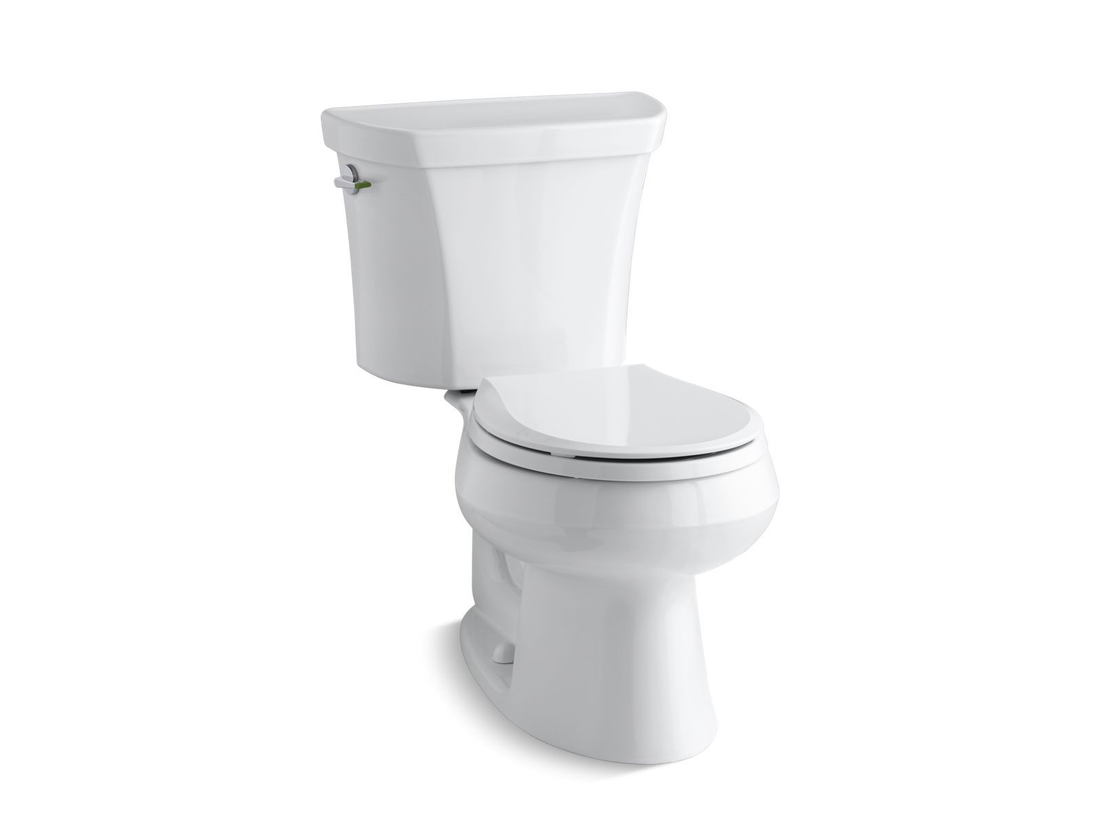 Wellworth Two-Piece Round-Front Dual-Flush Toilet with Class Five Flush Technology and Left-Hand Trip Lever