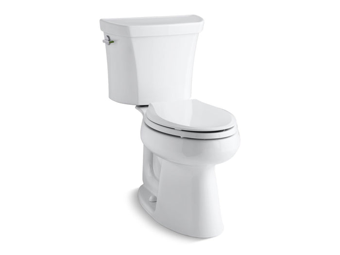 Highline Comfort Height Two-Piece Elongated Dual-Flush Toilet with Class Five Flushing Technology and Left-Hand Trip Lever